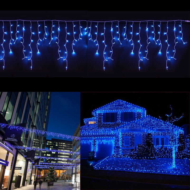 Details About Christmas Fairy Blue Led Lights Icicle String Outdoor House Eave Ceiling Decor
