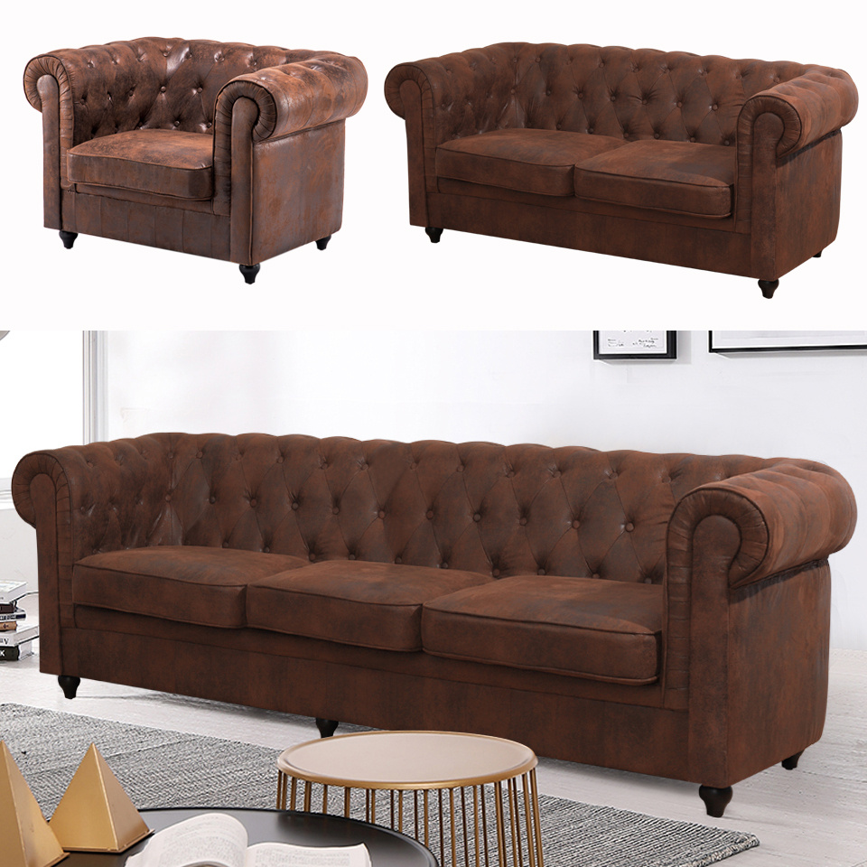 Outstanding Details About Brown Distressed Leather Sofa Armchair Vintage Retro 1 2 3 Seater Shabby Settee Pdpeps Interior Chair Design Pdpepsorg