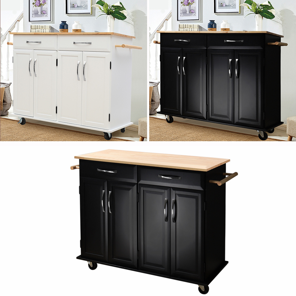 Cart Rolling Island Storage Cabinet 2