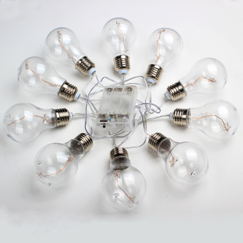 Battery Operated Edison Bulb Lamp: Large Festoon Bulbs LED Edison Battery Operated Party