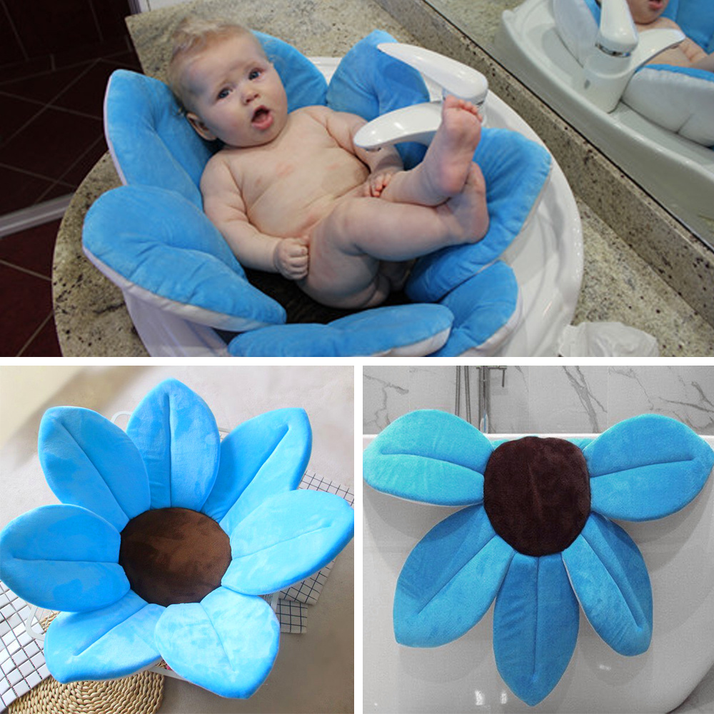 Lotus Blooming Sink Bath Tub Flower Mat Baby Safety Protector ...