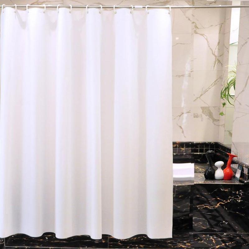 stoff duschvorhang plain wei extra breit extra lang. Black Bedroom Furniture Sets. Home Design Ideas