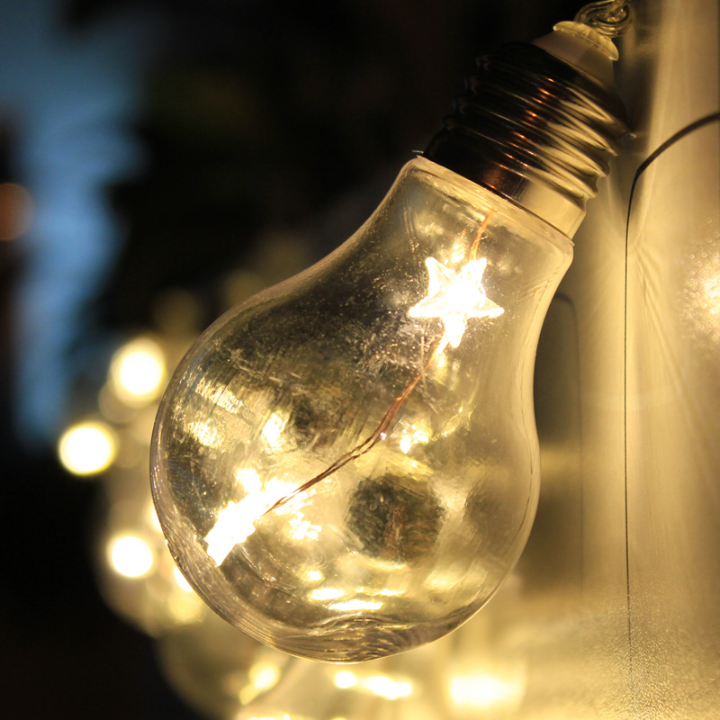 Battery Operated Edison Bulb Lamp: Battery Powered LED Edison Bulb Warm White String Fairy