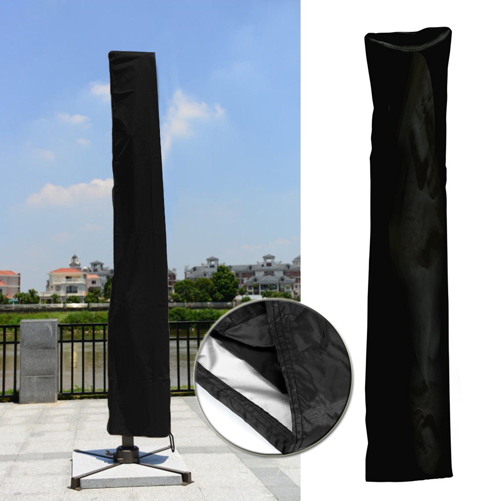 Patio Umbrella Covers With Zipper: Zip Side Patio Parasol Umbrella Cover Waterproof Garden