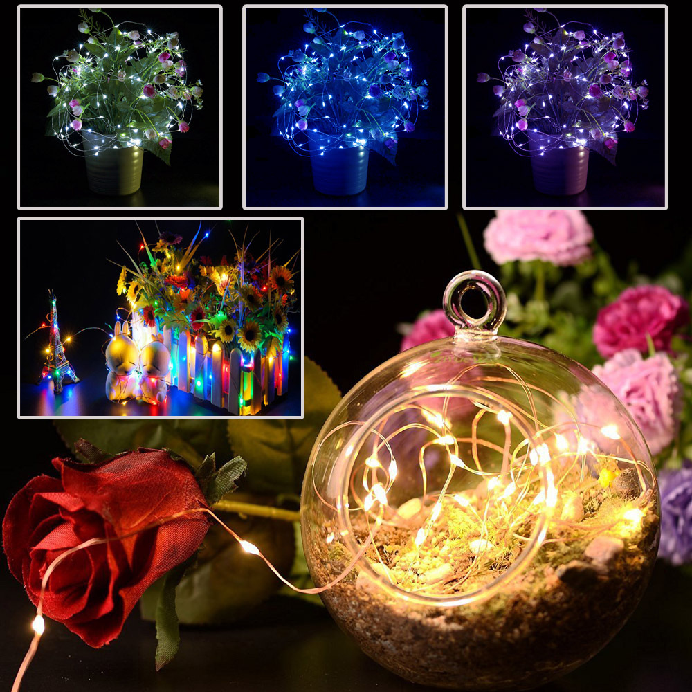 How To String Mini Lights On A Christmas Tree : 1/2/3/4 Pcs Mini LED Bendable String Fairy Lights Christmas Xmas Tree Gadgets UK eBay