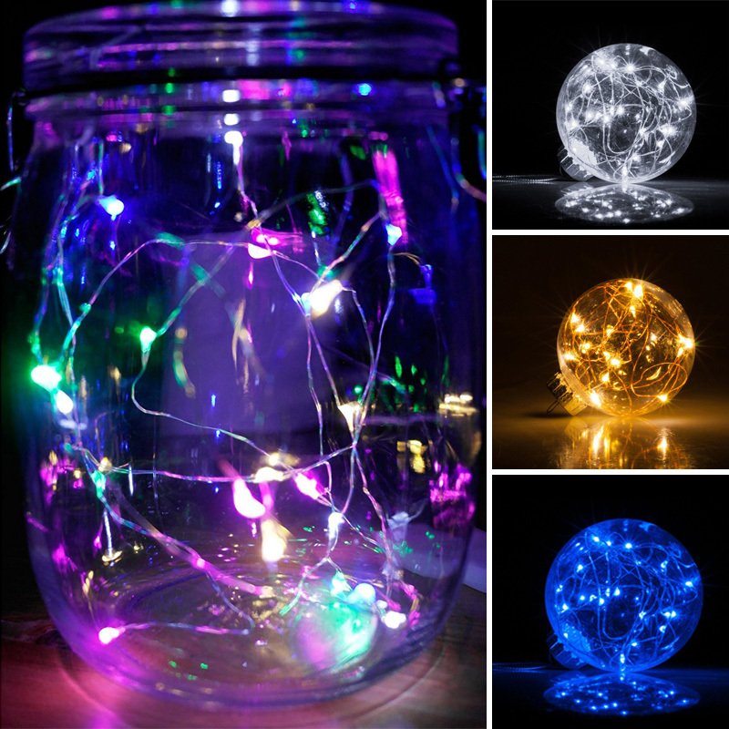 Mini 4/8/12 Micro Rice LED 1M Fairy String Lights Battery Powered Party Wedding eBay